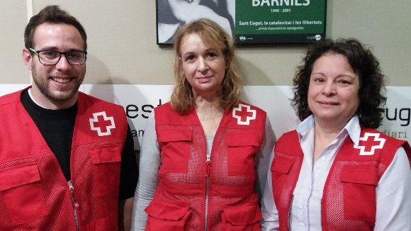 D'esquerra a dreta, Pep Usero, Lourdes Mendoza i Carmen Díaz