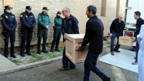 Les obres d'art del Museu de Lleida, propietat de les monges de Sant Joan de Valldoreix, arriben a Sixena