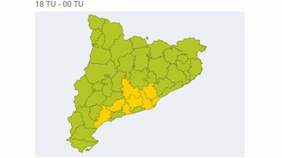 El Servei Meteorològic de Catalunya alerta de perill de vent aquest dimecres al Vallès Occidental