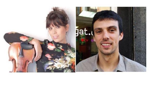 El dúo format per Laia Pujolassos i Daniel Claret / Foto: Twitter i arxiu