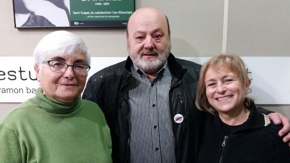 D'esquerra a dreta, Pepa Gómez, Antoni Salvador i Rosa Sicart