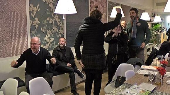 El partit ha celebrat els resultats al restaurant Mitja Lluna