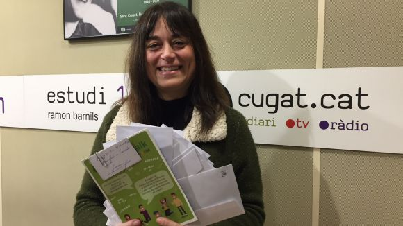 Virginia Fargas recull la panera de Cugat.cat, valorada en 750 euros