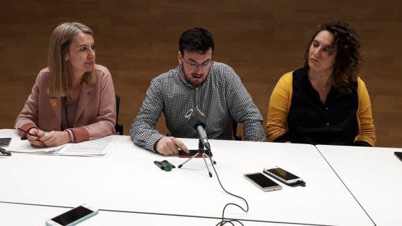 Ingla, Gutiérrez i Gibert han presentat la moció / Foto: ERC Sant Cugat