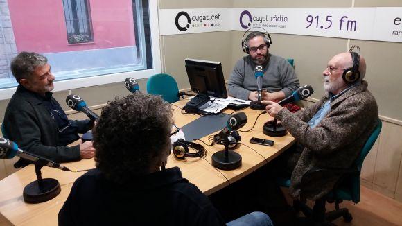 Els tertulians d'aquest dilluns, amb el sotsdirector de Cugat.cat, Joan Miquel Fernández