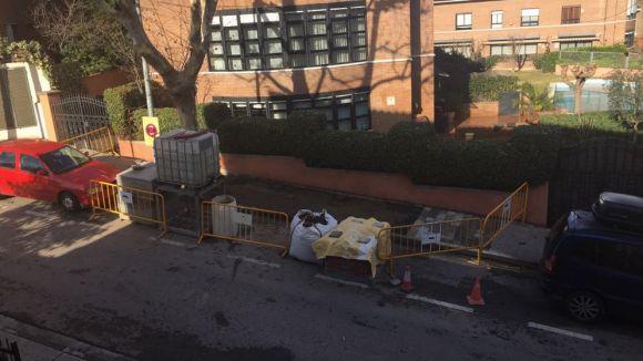 Les obres a la zona de Sant Domènec ja han començat / Foto: PP Sant Cugat