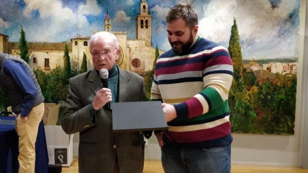 Domingo López i Eloi Rovira, aquest divendres a l'Ajuntament / Foto: Cugat.cat