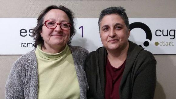 D'esquerra a dreta, Carme Reverte i Cristina Fernández