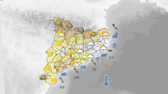 Es preveu un episodi de fort vent aquest diumenge al Vallès Occidental