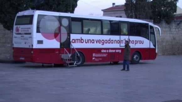 Nova cita per donar sang aquest dissabte a la plaça d'Octavià