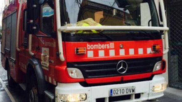Tres dotacions de Bombers han actuat a l'incendi
