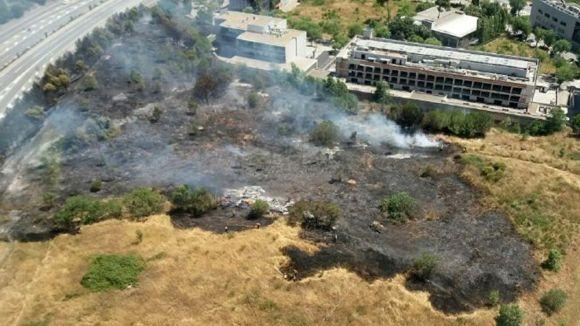 L'incendi de la Guinardera va cremar gairebé tres hectàrees / Foto: Parc de Collserola