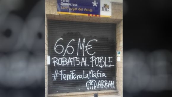 El PDeCAT condemna 'un nou atac' amb una pintada d'Arran a la seu del partit