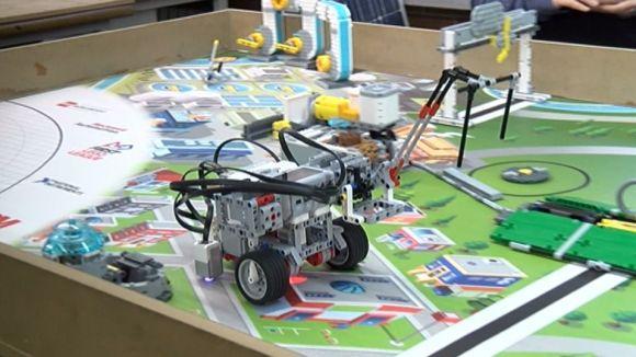 Un dels robots amb què els alumnes competiran