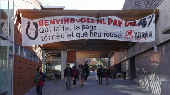 Imatge de la pancarta penjada aquest diumenge / Foto: Arran