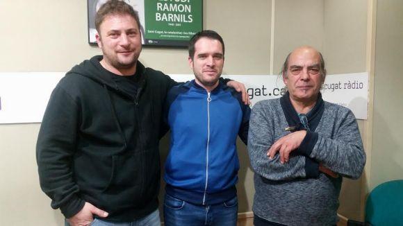 D'esquerra a dreta, Pau Sans, Eduard Jordan i Ismael Serradilla