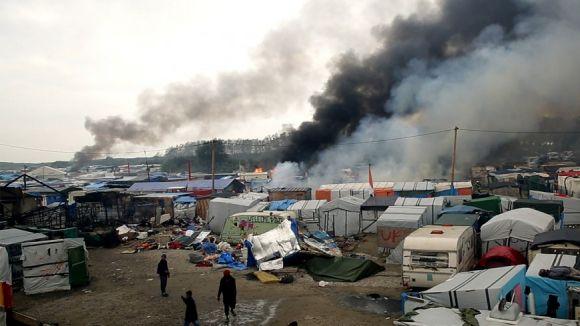 Imatge d'Yves Dimant del camp de Calais del documental 'La Jungla' / Foto: Catalanfilms.cat