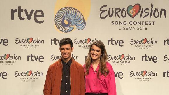 Amaia i Alfred (OT) presenten a Sant Cugat 'Tu canción', representació espanyola a Eurovisió