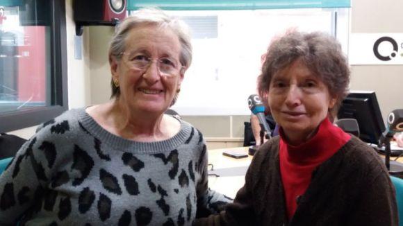 D'esquerra a dreta, Montse Roura i Eulalia Gudiol