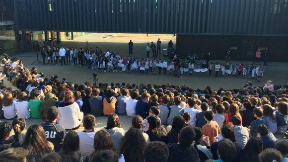 El Thau commemora el Dia Escolar de la No-violència amb 78 'petjades' per fer camí per a la pau
