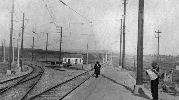 L'estació de Sant Cugat en l'inici del segle XX / Foto: Santcugat.cat