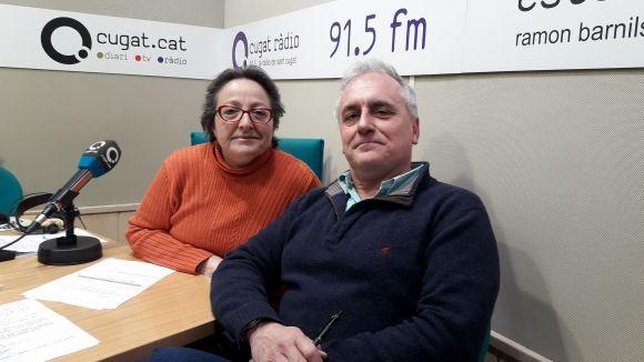 Lluís Cabal amb la presentadora Carme Reverte