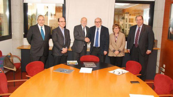 Imatge de la signatura del conveni / Foto: UIC