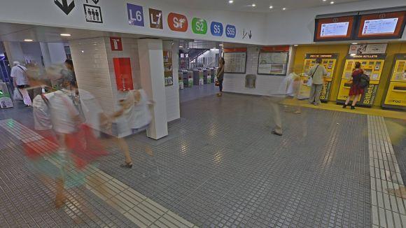 Google StreetView ja permet visitar l'interior de les estacions principals de FGC a Barcelona