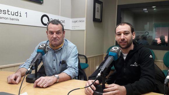 D'esquerra a dreta, Rafa Robledo i Riki Español