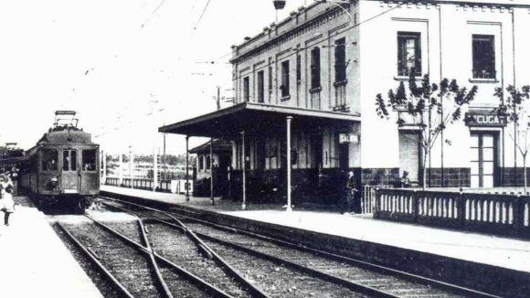 Estació de Sant Cugat quan el tren va arribar a la ciutat / Foto: web Ajuntament