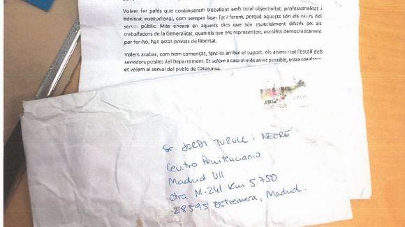 Treballadors de Presidència denuncien a Correus per una carta oberta dirigida a Turull