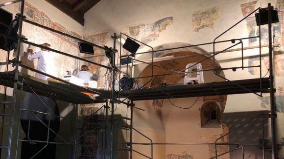 El CRBMC coordina la restauració de les pintures murals de Sant Quirze de Pedret de Cercs