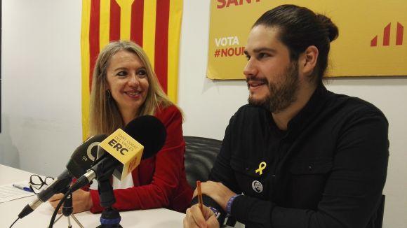 Mireia Ingla i Èric Gómez han presentat la moció