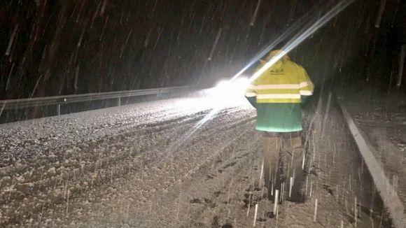 La Rabassada es va veure afectada per la neu la setmana passada / Foto: Ajuntament