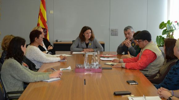 L'alcaldessa ha rebut oficialment els activistes a l'ajuntament / Foto: Localpres