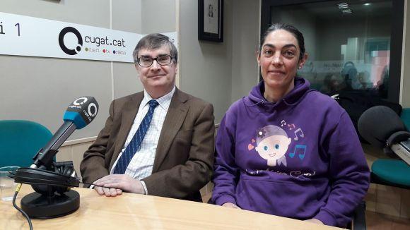 El doctor Ramon Rami i la presidenta de l'Associació Anita parlen del càncer de pulmó i càncer infantil