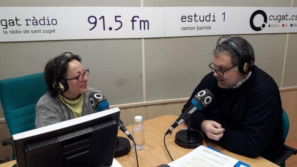 La presentadora Carme Reverte i l'historiador Juanjo Cortés