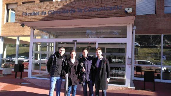 D'esquerra a dreta, Pol Corredoria, Josep Moragas, Àlex Palomar i Víctor Collell