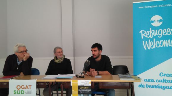 D'esquerra a dreta, Pau Alonso, de Qgat Sud, Xavier Asensio, de l'Aula de So i Joan Cabasés, de La Xesca