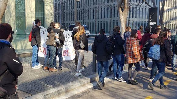 En llibertat provisional els dos santcugatencs detinguts pel bloqueig al TSJC