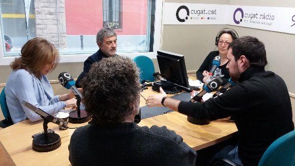 Els tertulians d'aquest dilluns amb la presentadora, Carme Reverte