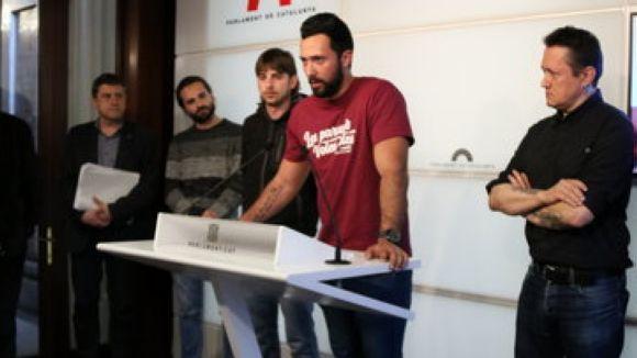 La CUP-PC vol que el ple expressi el suport al raper Valtonyc