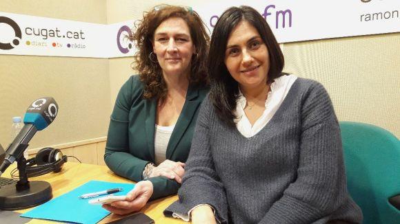 D'esquerra a dreta, Susanna García i Mònica Benages