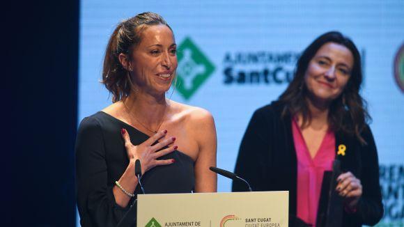 Gemma Mengual rep el Premi Extraordinari de Sant Cugat en honor a la seva trajectòria al món de la natació sincronitzada