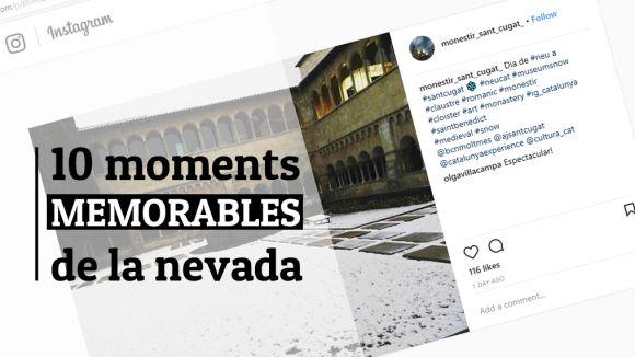 Els 10 moments més emblemàtics de la nevada dels santcugatencs a les xarxes