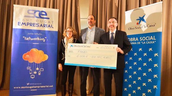 Imatge de l'entrega del premi / Foto: Sant Cugat Empresarial