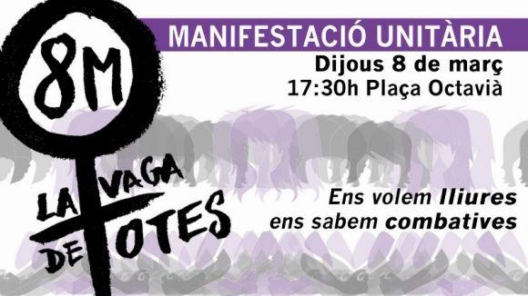 Forces d'esquerra convoquen una marxa a Sant Cugat per unir-se a la manifestació del 8 de març
