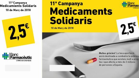 La Campanya de Medicaments Solidaris es renova i se centrarà en la recollida de diners