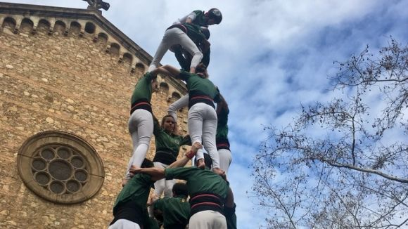 Els Gausacs enceten temporada a Gràcia amb castells de 7 i bona boca