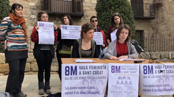 El Comitè de Vaga Feminista porta per primera vegada la mobilització a Sant Cugat